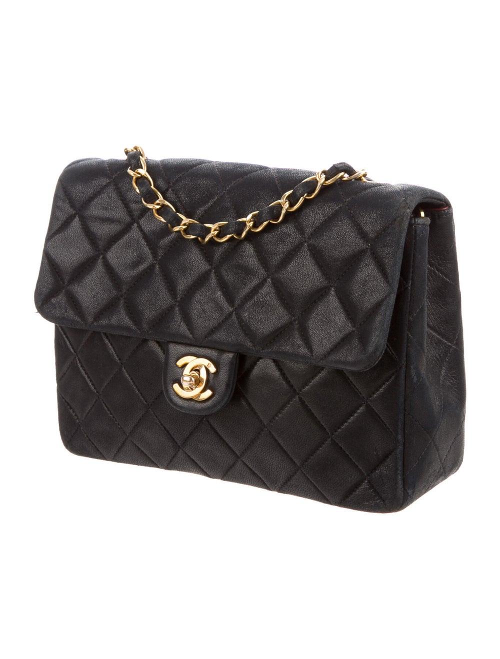 Chanel Vintage Classic Small Single Flap Bag Blue - image 3