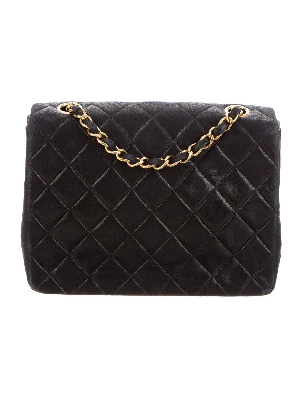 Chanel Vintage Classic Small Single Flap Bag Blue - image 4