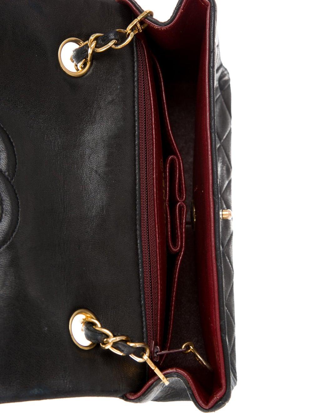 Chanel Vintage Classic Small Single Flap Bag Blue - image 5