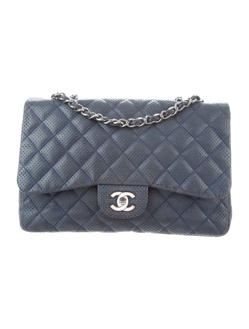 Chanel Perforated Classic Jumbo Single Flap Bag B… - image 1