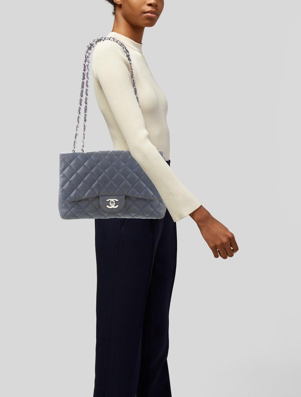 Chanel Perforated Classic Jumbo Single Flap Bag B… - image 2