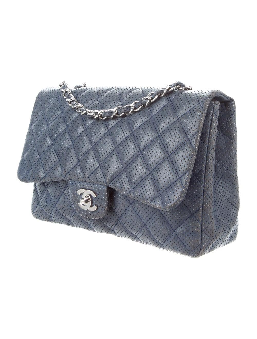 Chanel Perforated Classic Jumbo Single Flap Bag B… - image 3