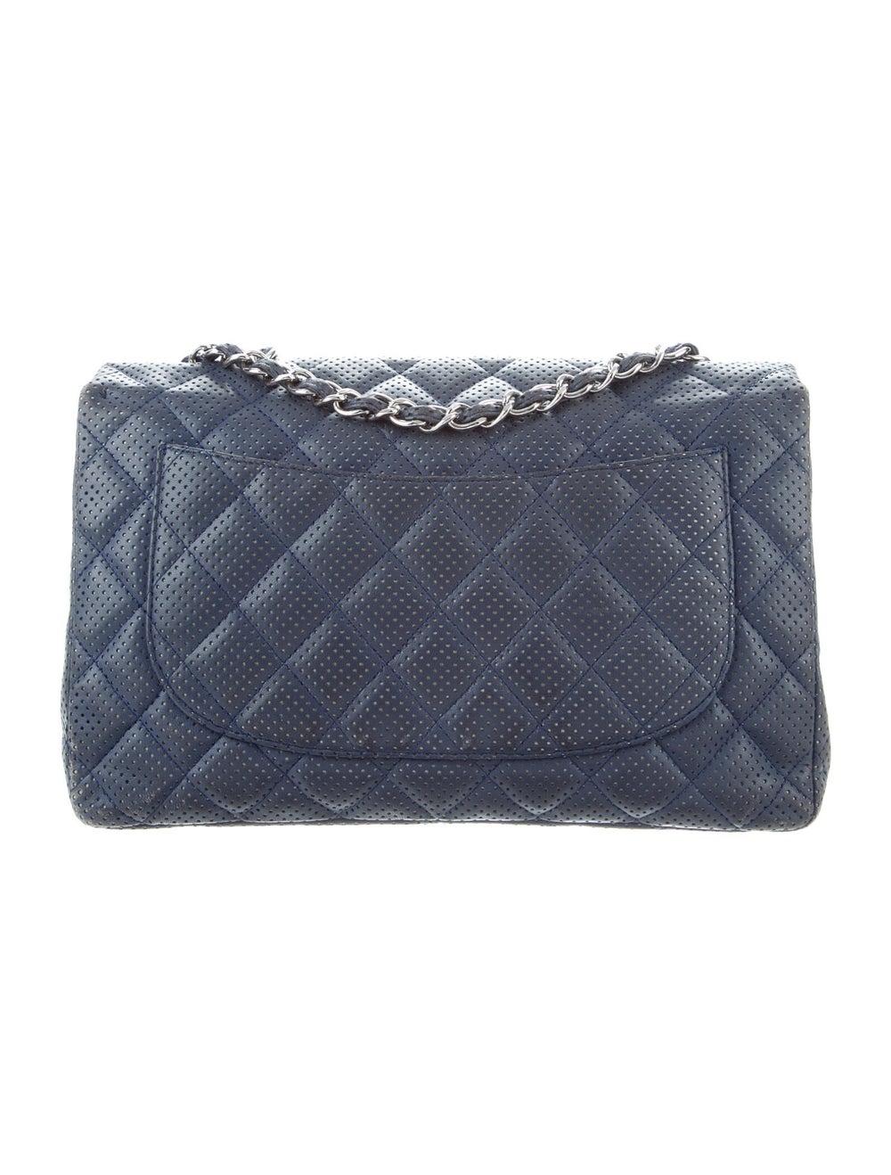 Chanel Perforated Classic Jumbo Single Flap Bag B… - image 4