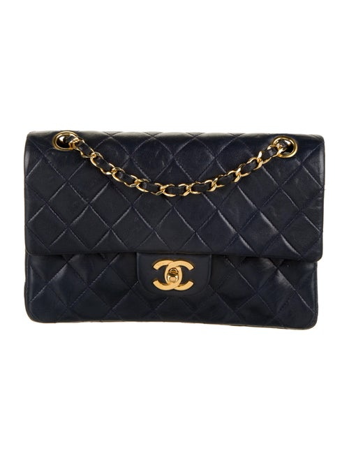 Chanel Vintage Classic Small Double Flap Bag Blue - image 1