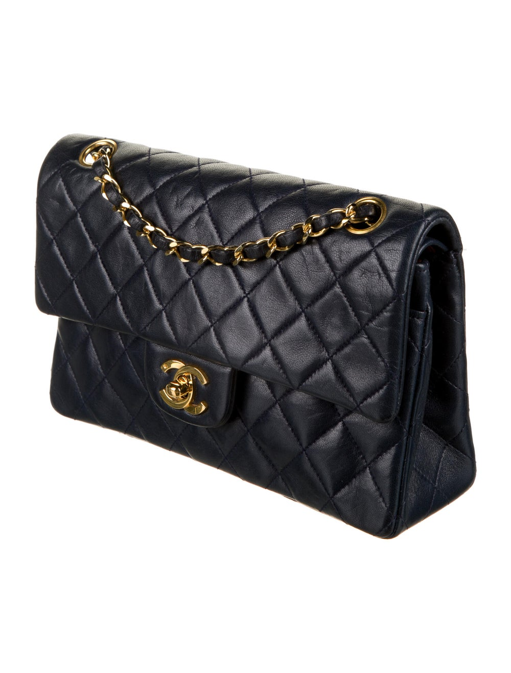 Chanel Vintage Classic Small Double Flap Bag Blue - image 3