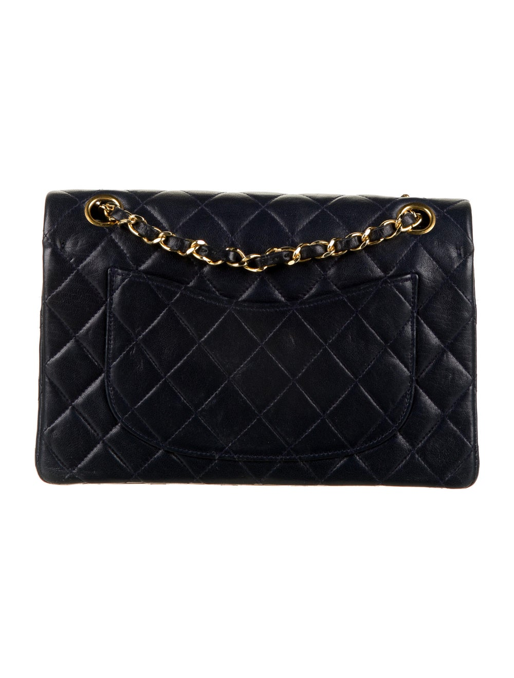 Chanel Vintage Classic Small Double Flap Bag Blue - image 4