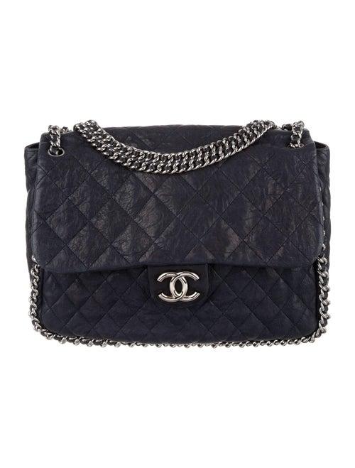 Chanel Maxi Chain-Around Flap Bag Blue - image 1