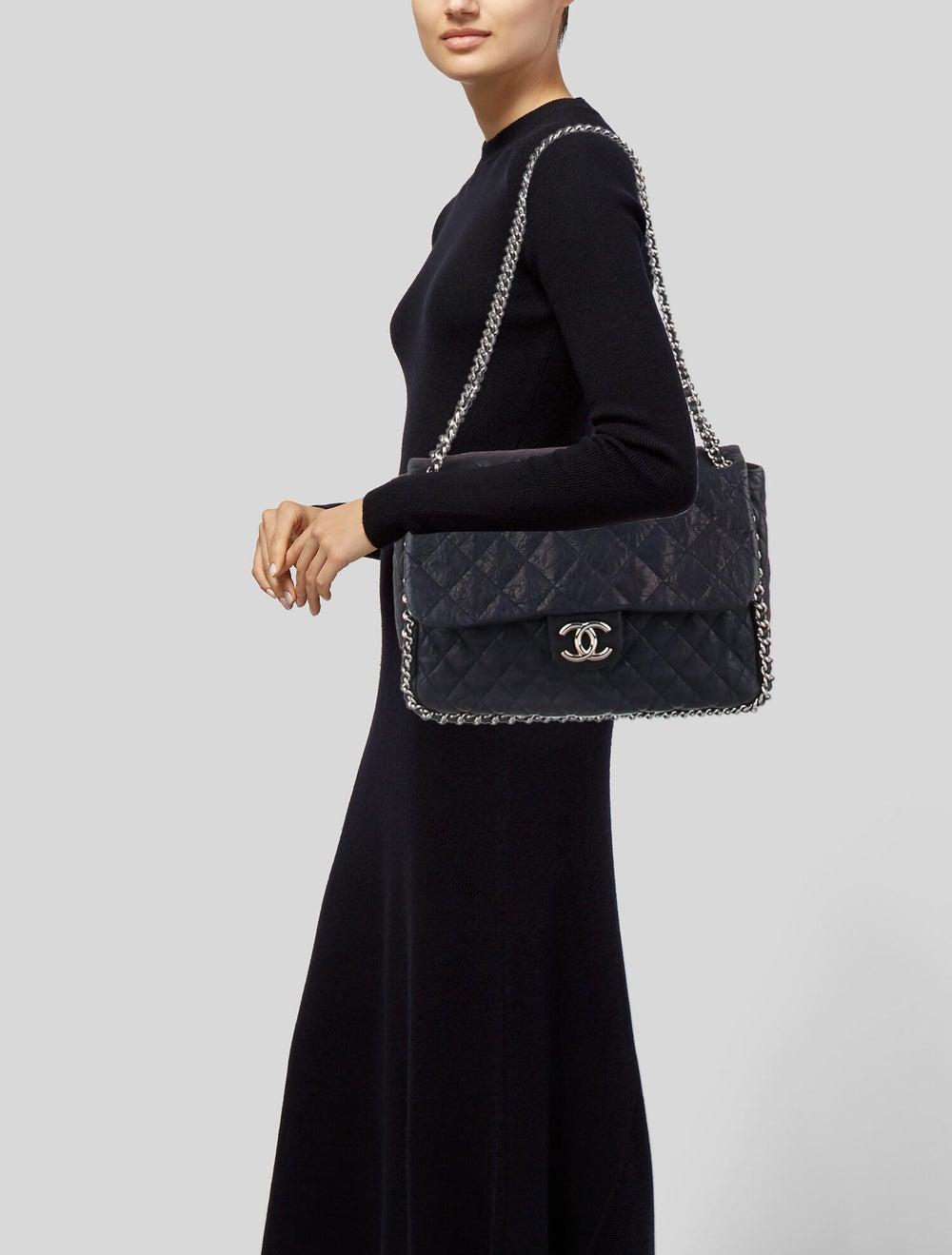 Chanel Maxi Chain-Around Flap Bag Blue - image 2