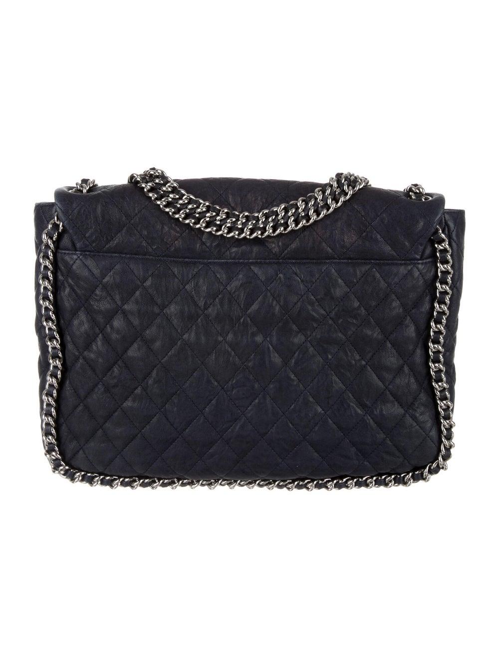 Chanel Maxi Chain-Around Flap Bag Blue - image 4
