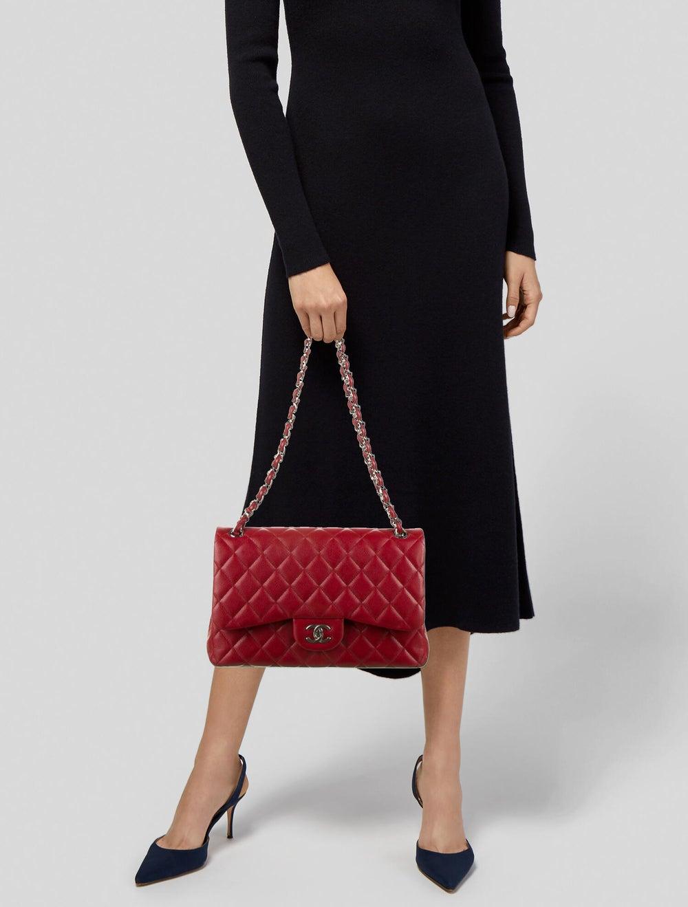 Chanel Classic Jumbo Double Flap Bag Red - image 2