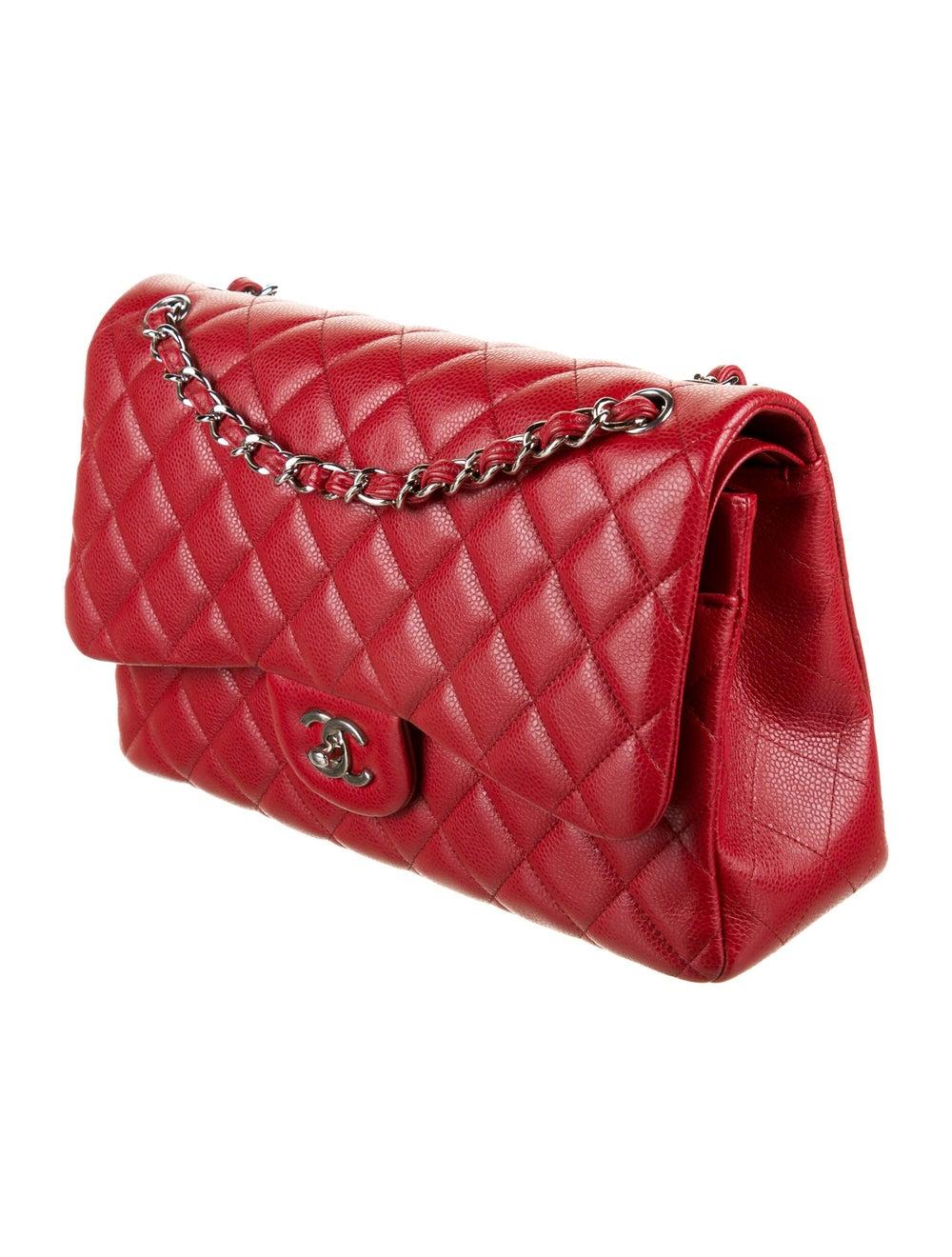Chanel Classic Jumbo Double Flap Bag Red - image 3