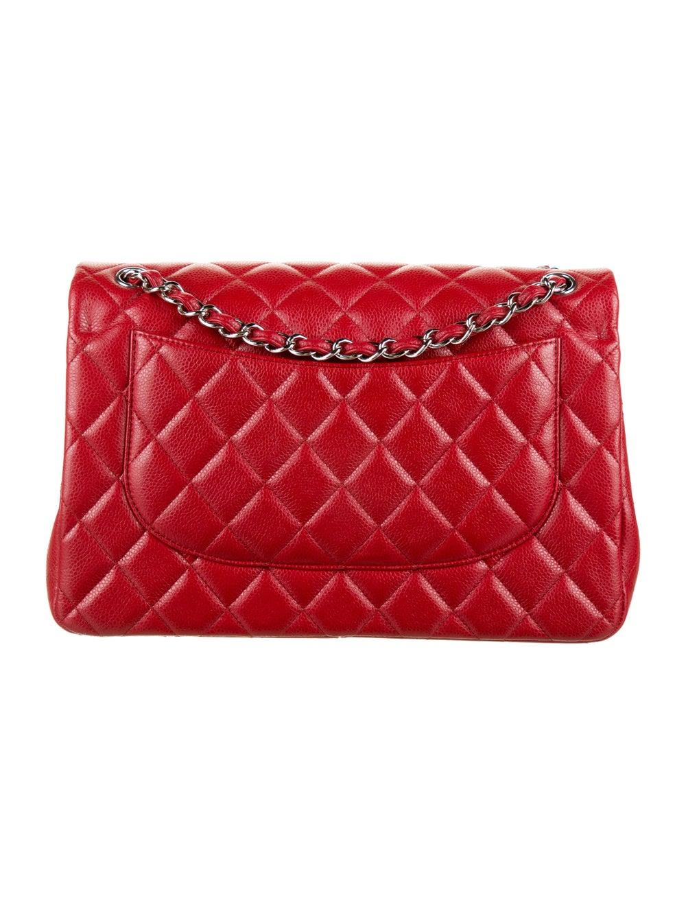 Chanel Classic Jumbo Double Flap Bag Red - image 4