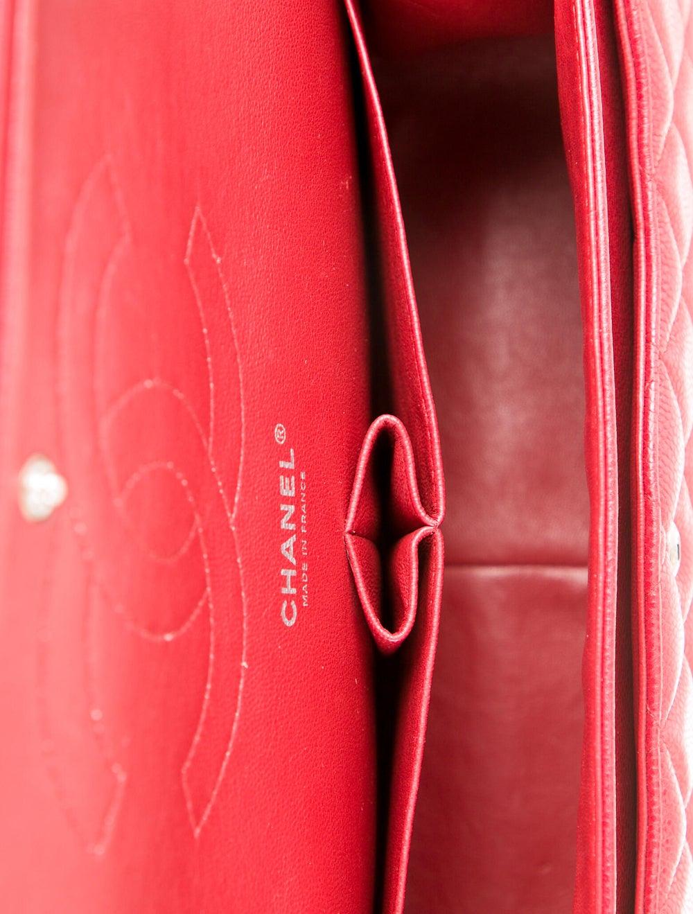 Chanel Classic Jumbo Double Flap Bag Red - image 5
