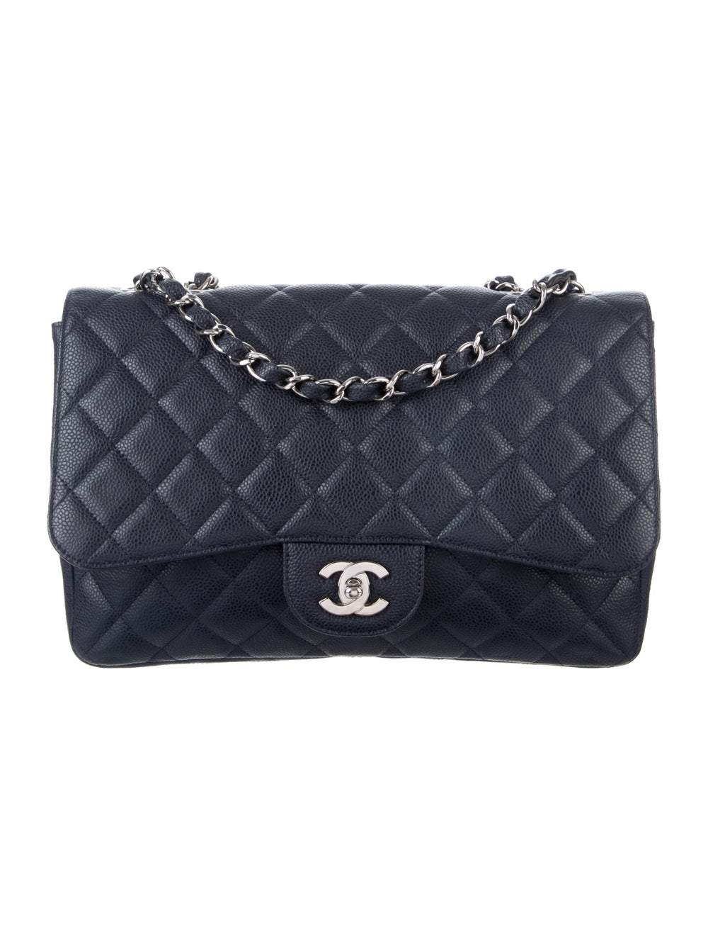 Chanel Jumbo Single Flap Bag Blue - image 1