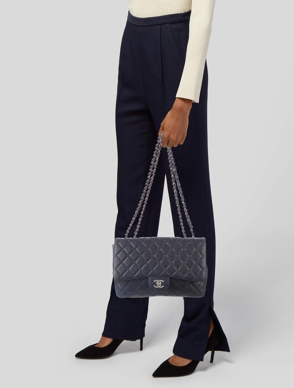 Chanel Jumbo Single Flap Bag Blue - image 2