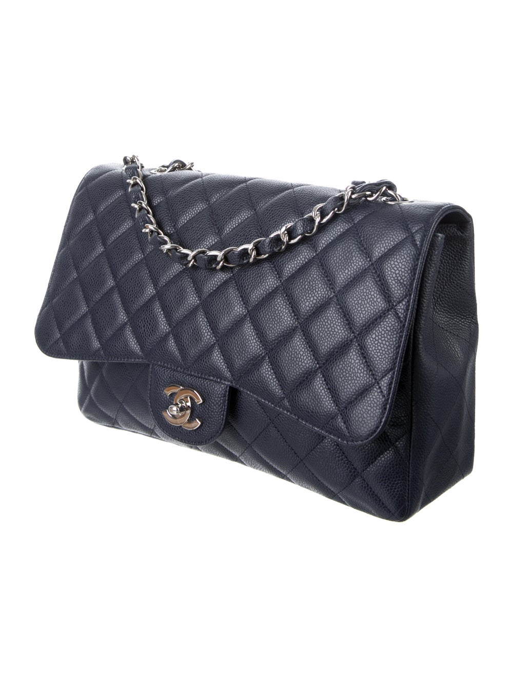 Chanel Jumbo Single Flap Bag Blue - image 3