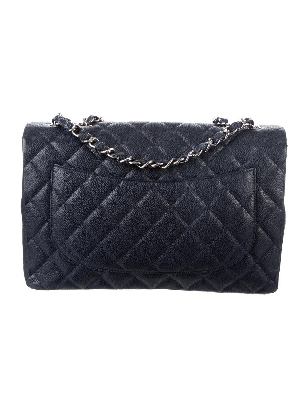 Chanel Jumbo Single Flap Bag Blue - image 4