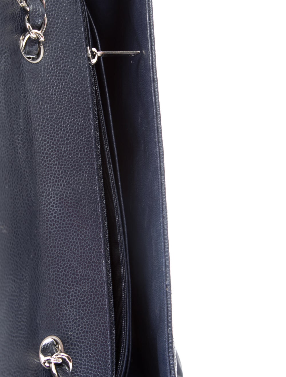 Chanel Jumbo Single Flap Bag Blue - image 5