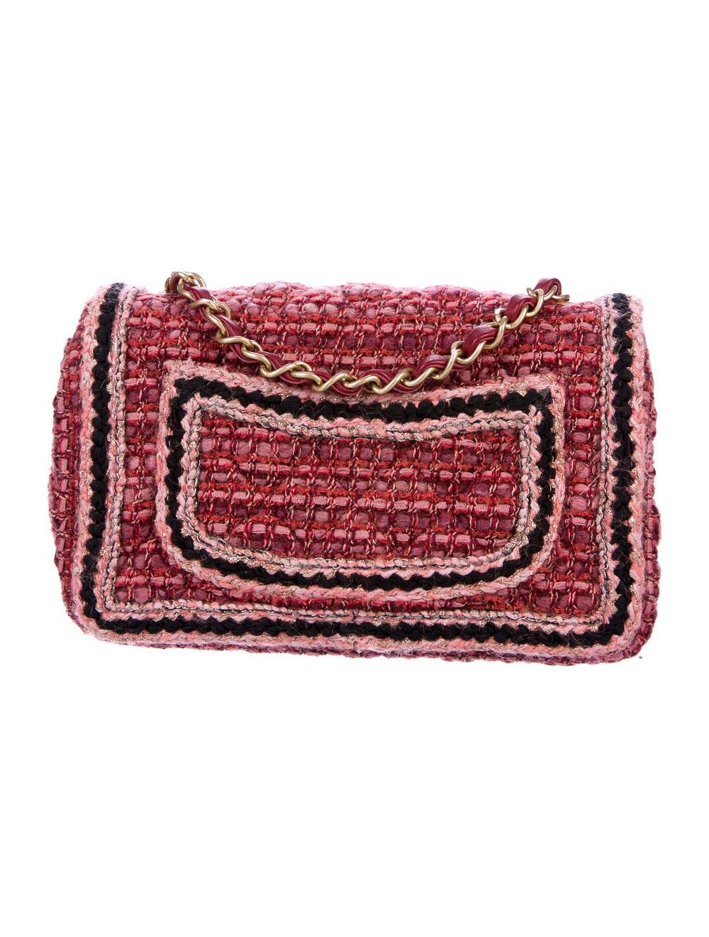 Chanel Tweed Braid Mini Flap Bag Red - image 4