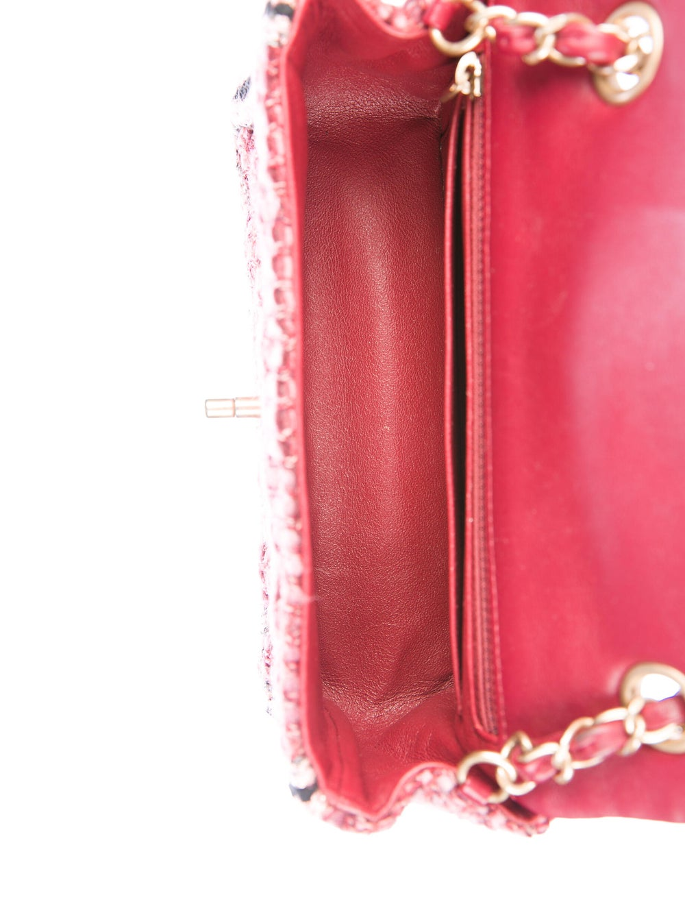 Chanel Tweed Braid Mini Flap Bag Red - image 5