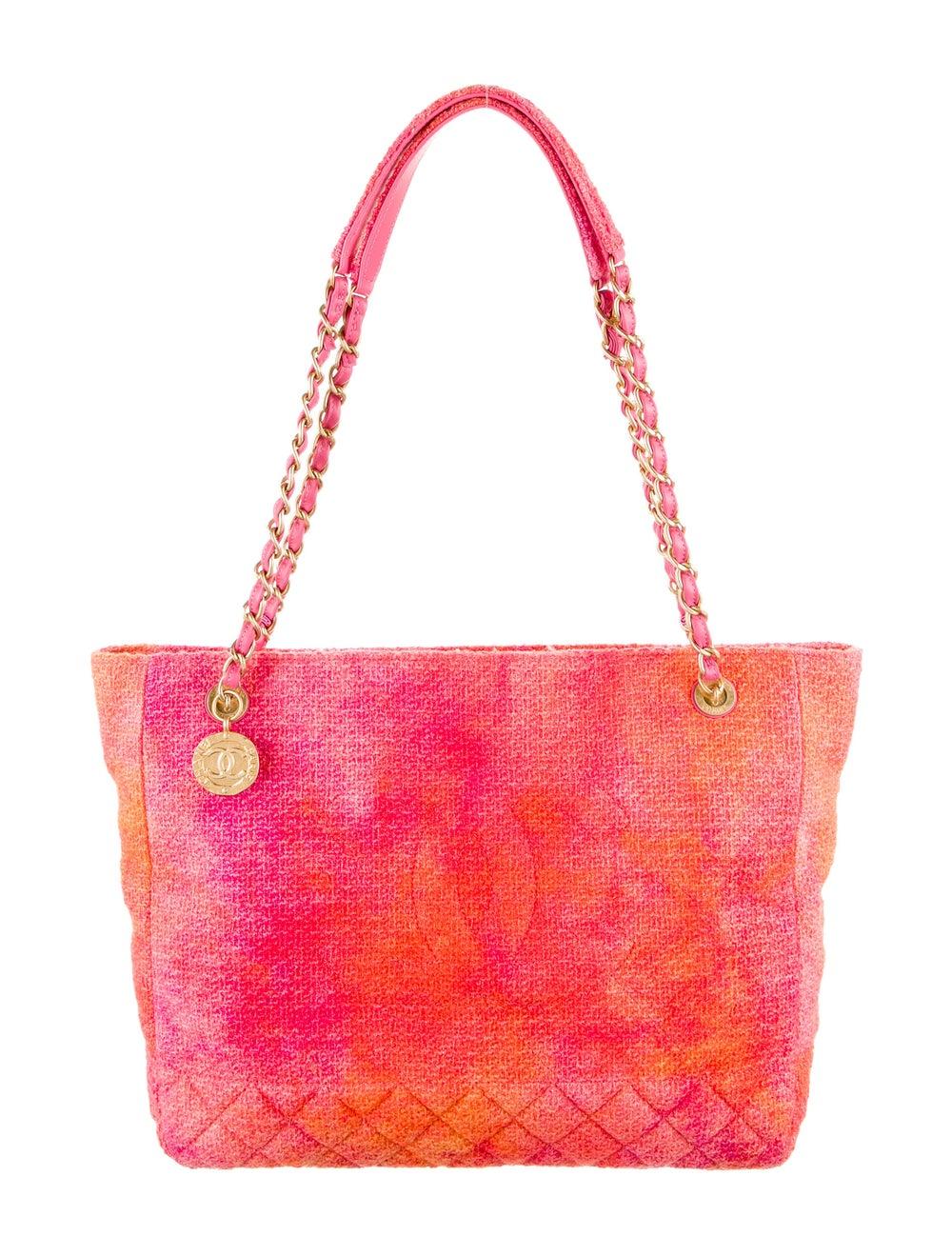 Chanel 2020 Tweed Large Shopping Bag Pink - image 1