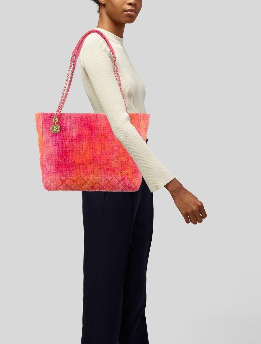 Chanel 2020 Tweed Large Shopping Bag Pink - image 2