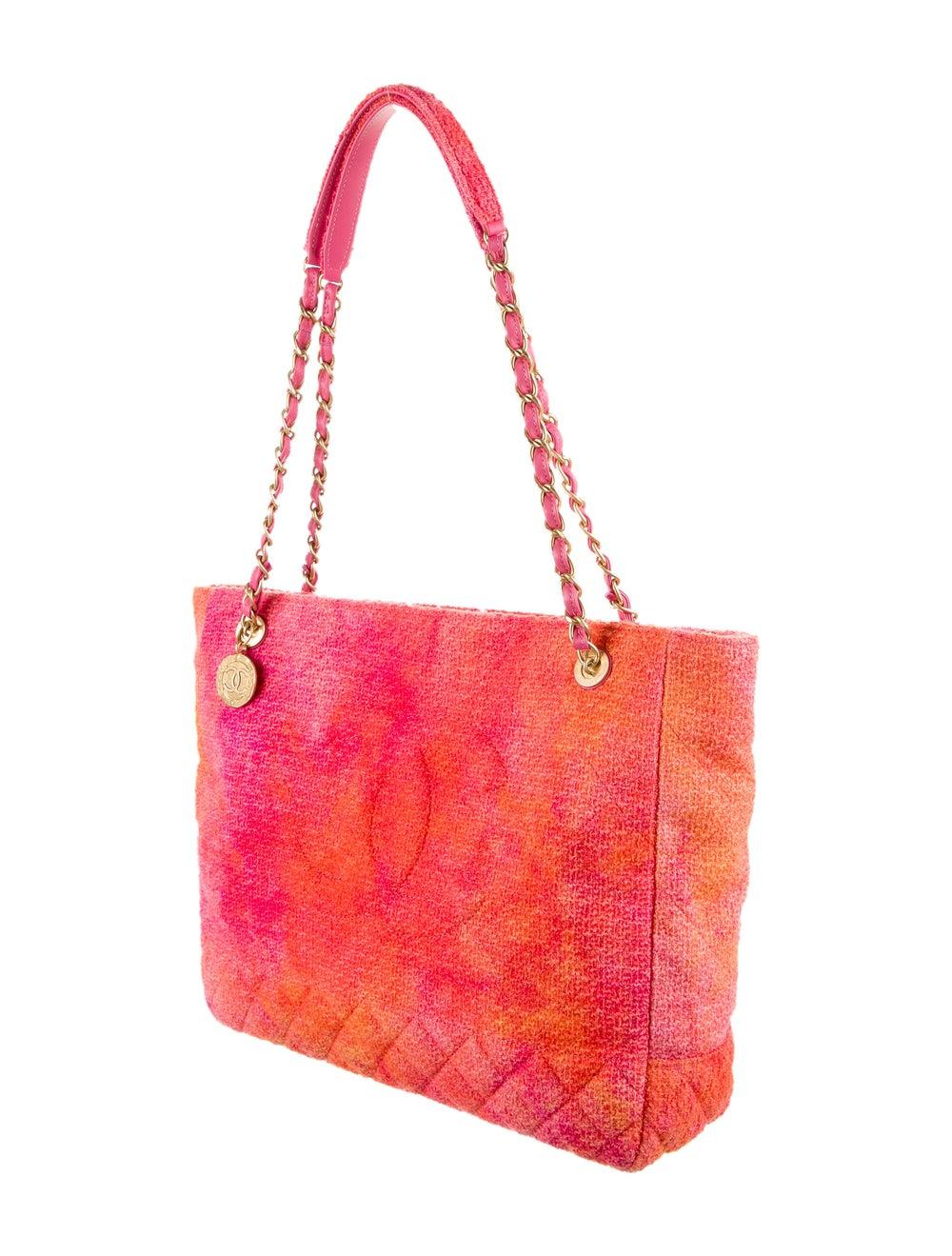 Chanel 2020 Tweed Large Shopping Bag Pink - image 3