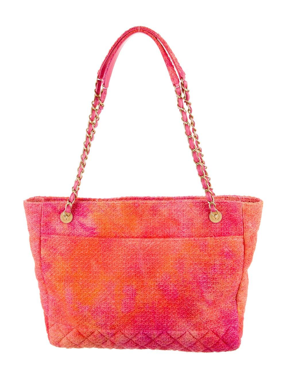 Chanel 2020 Tweed Large Shopping Bag Pink - image 4