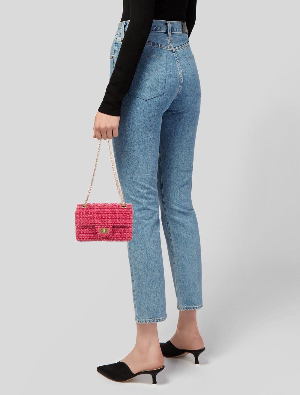 Chanel Tweed Reissue Mini Flap Bag Red - image 2
