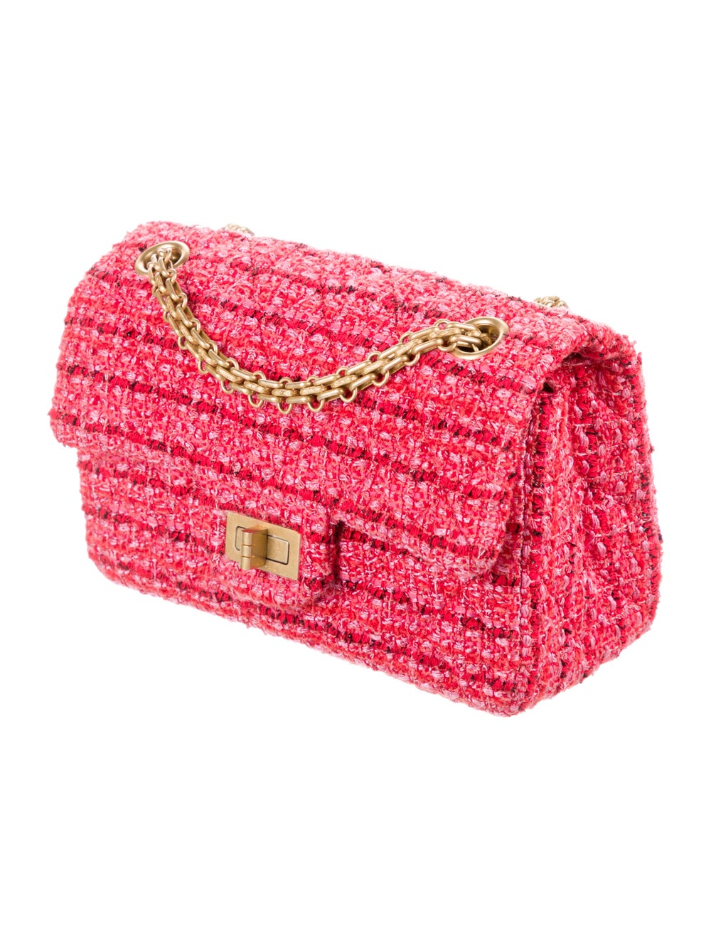 Chanel Tweed Reissue Mini Flap Bag Red - image 3