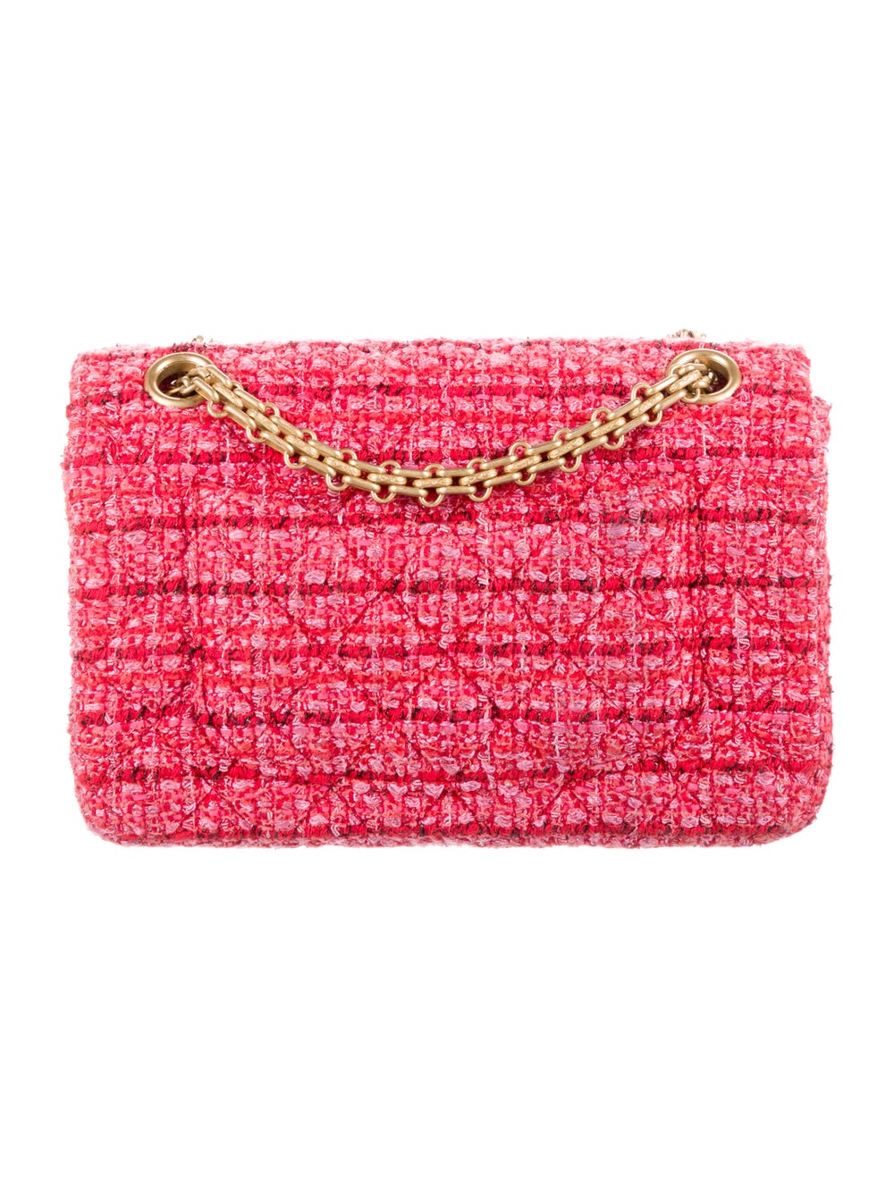 Chanel Tweed Reissue Mini Flap Bag Red - image 4
