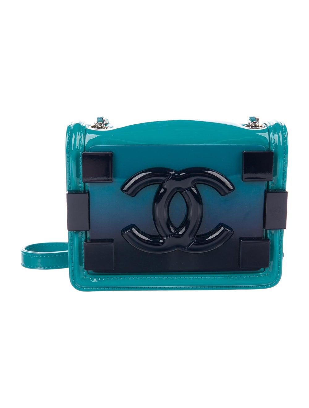 Chanel Boy Brick Flap Bag Blue - image 1