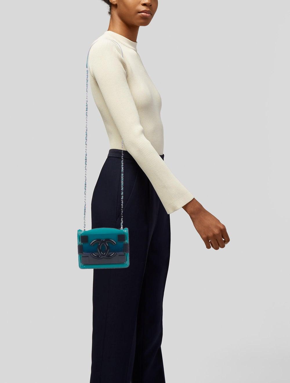 Chanel Boy Brick Flap Bag Blue - image 2