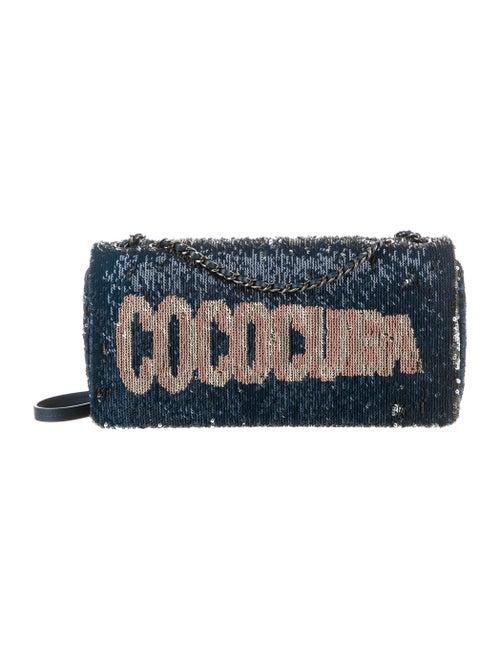 Chanel CocoCuba Sequin Flap Bag Blue - image 1