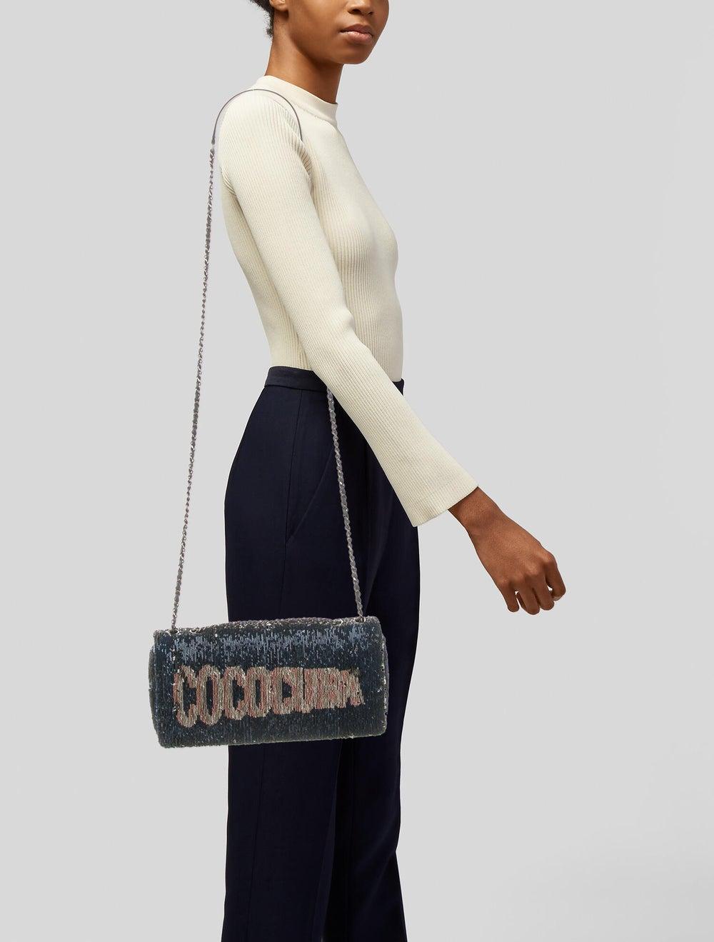 Chanel CocoCuba Sequin Flap Bag Blue - image 2