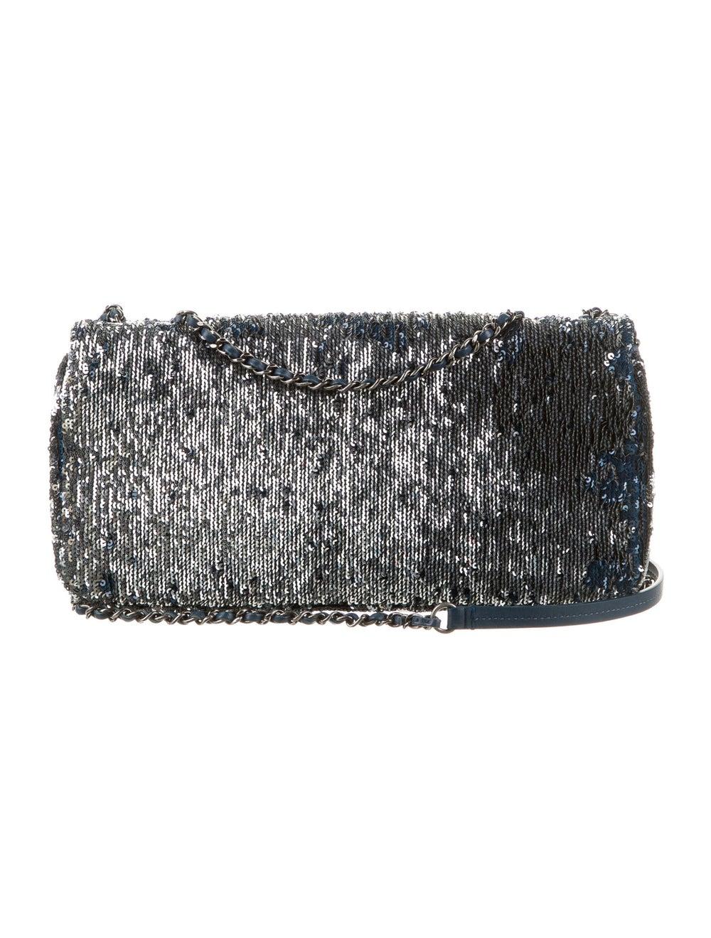 Chanel CocoCuba Sequin Flap Bag Blue - image 4