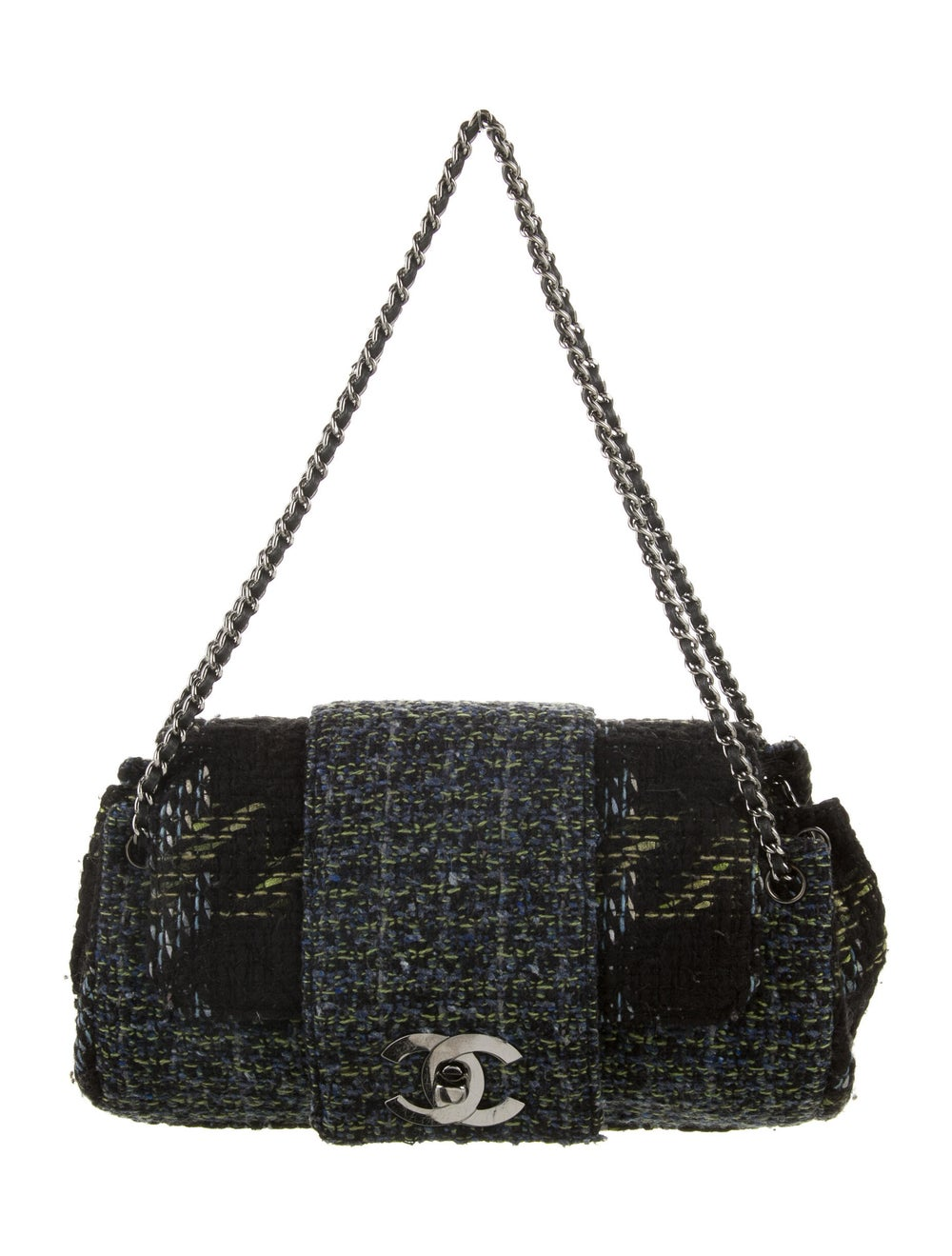 Chanel Tweed Flap Bag Black - image 1