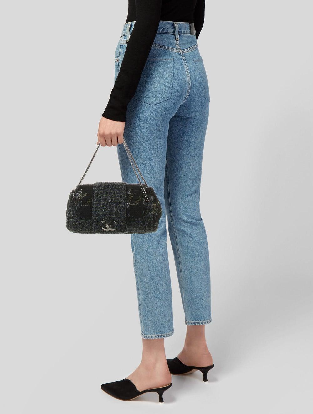 Chanel Tweed Flap Bag Black - image 2