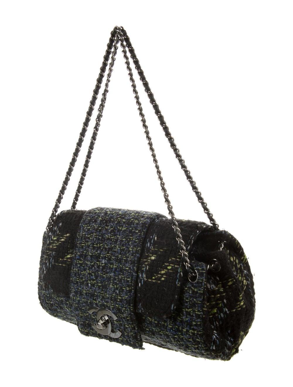 Chanel Tweed Flap Bag Black - image 3