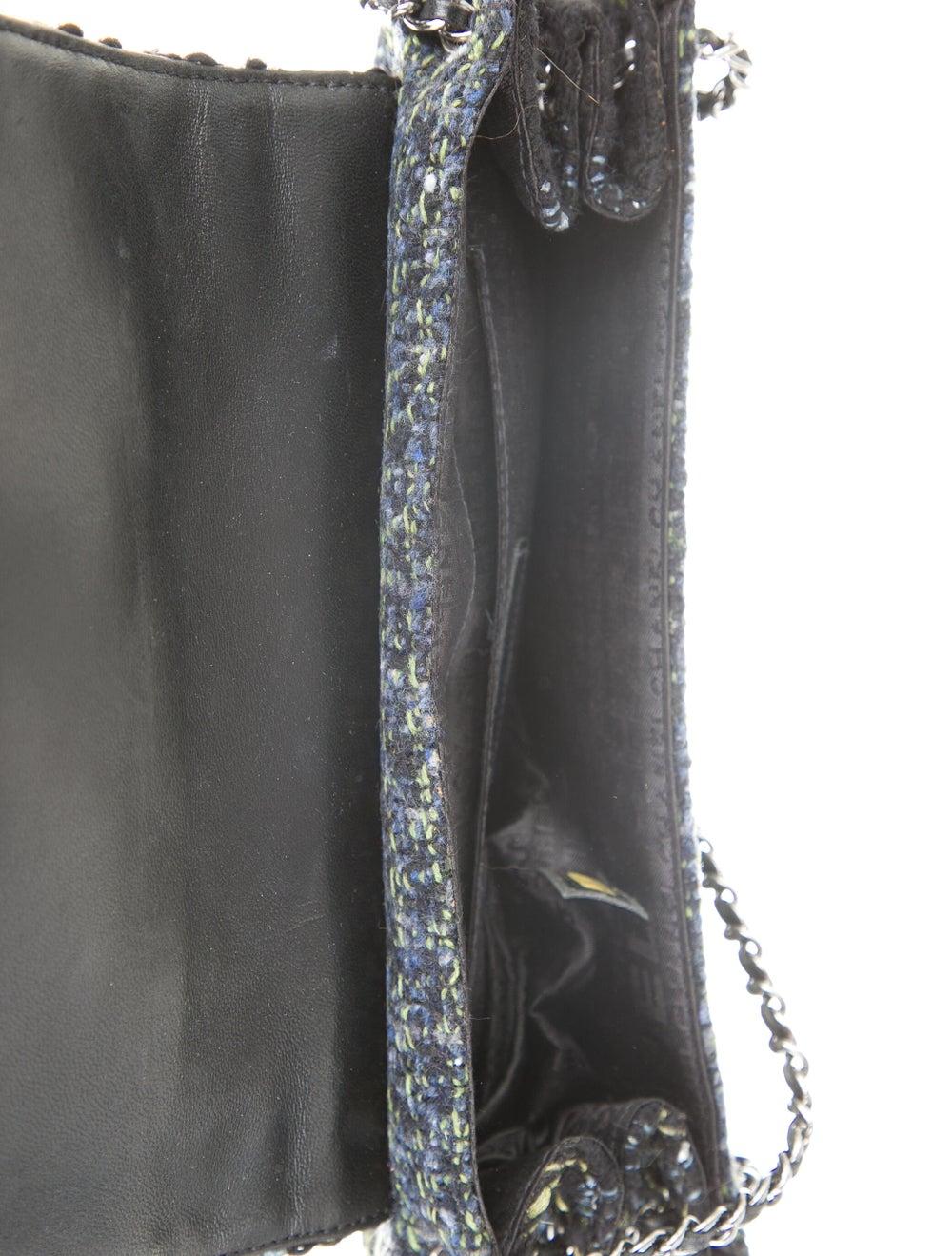 Chanel Tweed Flap Bag Black - image 5