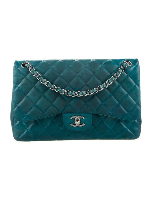 Chanel Classic Jumbo Double Flap Bag Blue - image 1