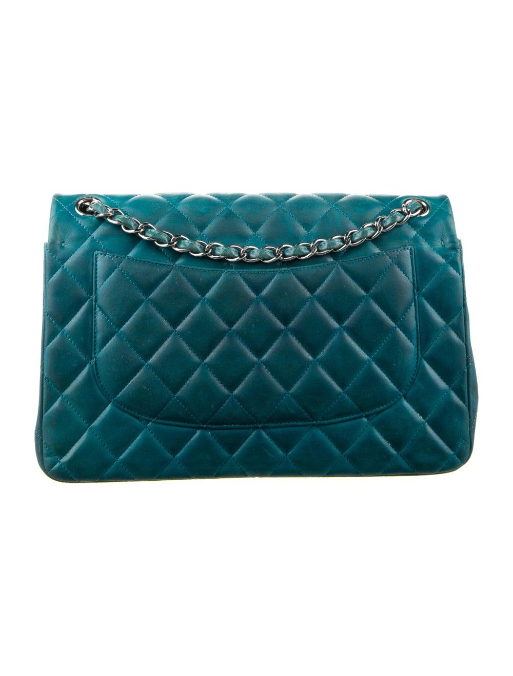 Chanel Classic Jumbo Double Flap Bag Blue - image 4