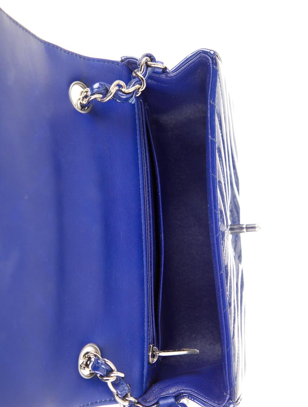 Chanel New Mini Chevron Flap Bag Blue - image 5