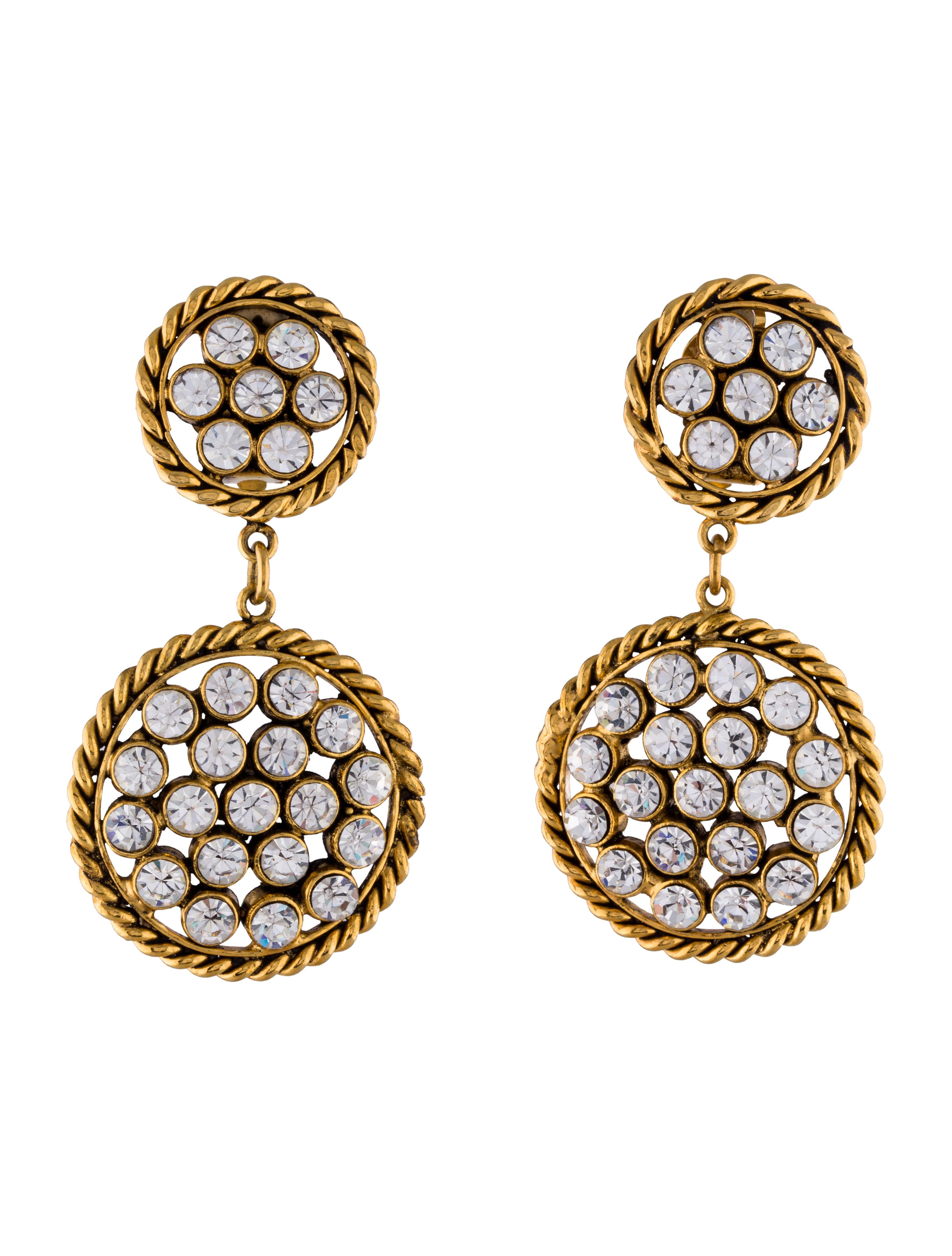 Chanel crystal chandelier earrings earrings cha57452 the crystal chandelier earrings arubaitofo Images