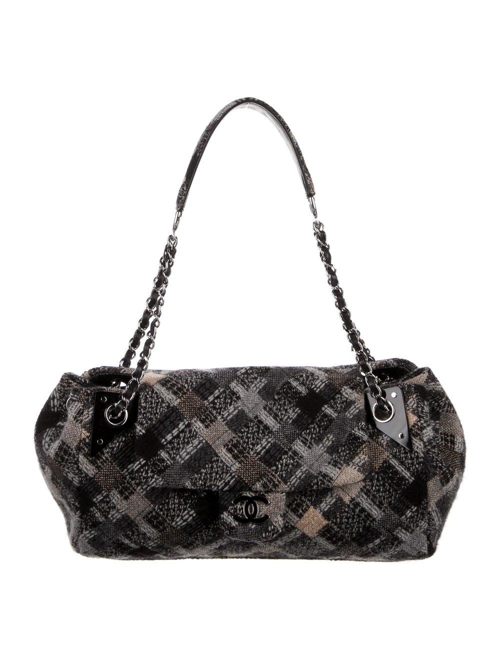Chanel Jumbo Tweed Single Flap Bag Grey - image 1