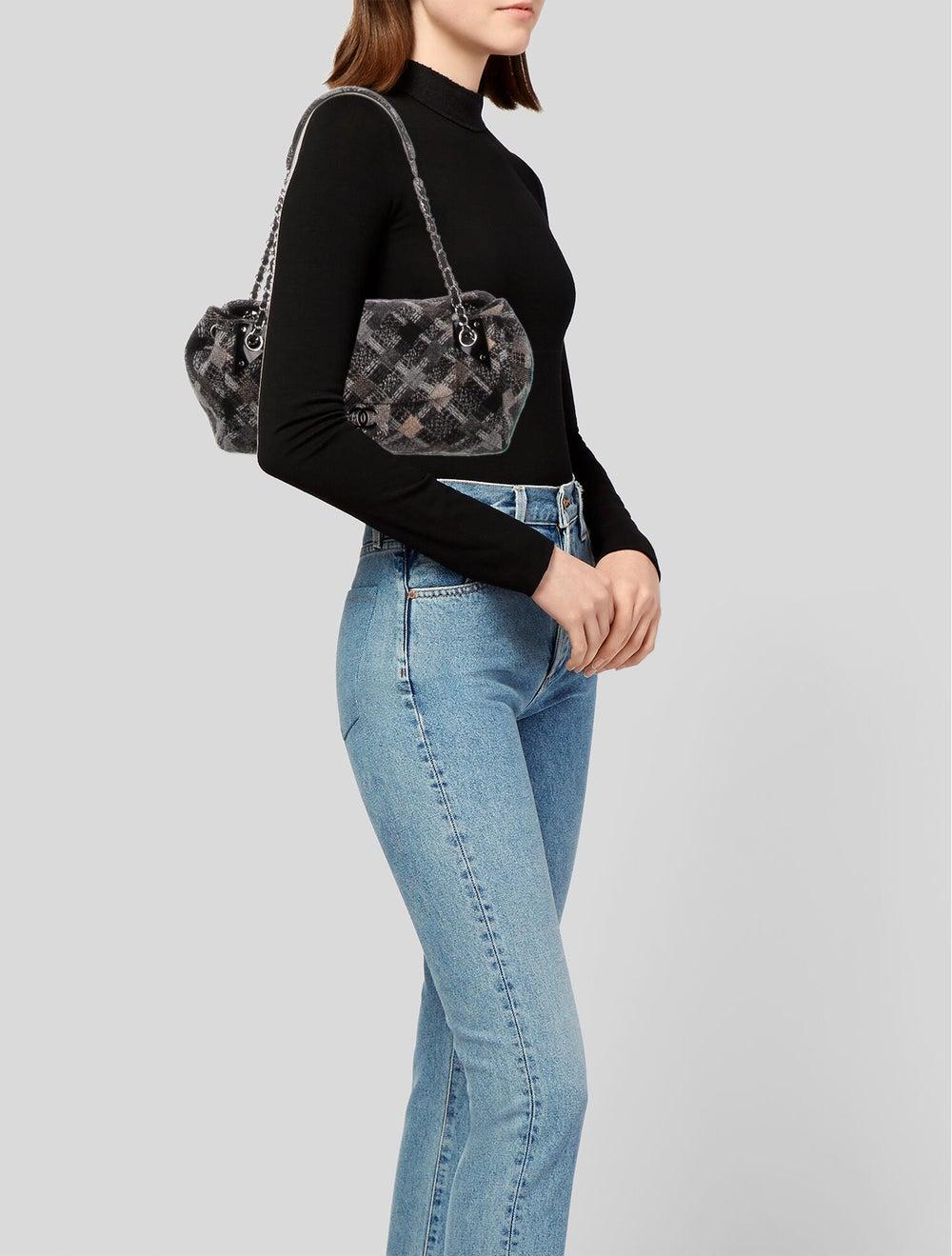 Chanel Jumbo Tweed Single Flap Bag Grey - image 2