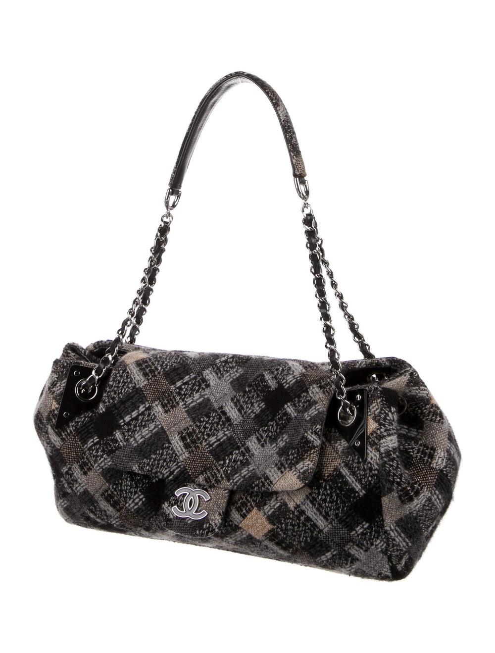 Chanel Jumbo Tweed Single Flap Bag Grey - image 3