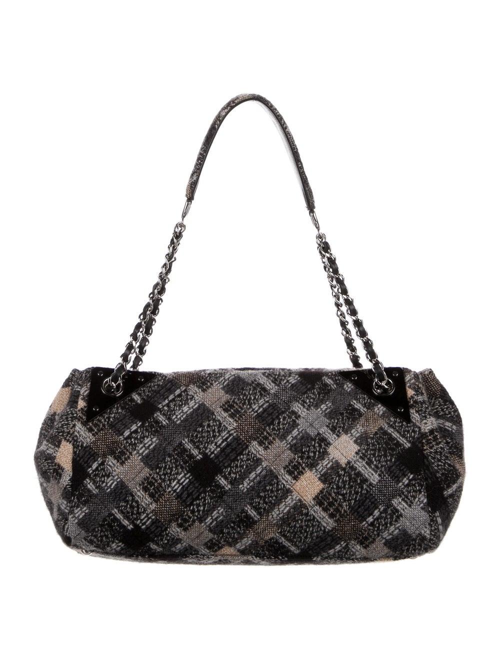 Chanel Jumbo Tweed Single Flap Bag Grey - image 4
