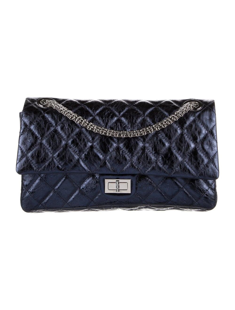 Chanel Reissue 228 Double Flap Bag Blue - image 1