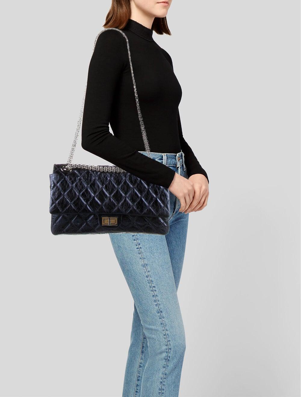 Chanel Reissue 228 Double Flap Bag Blue - image 2